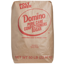 Domino® Pure Cane Confectioners 10X - 50 lb. Bag