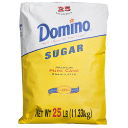 Domino® Pure Cane Granulated Sugar - 25 lb. Bag