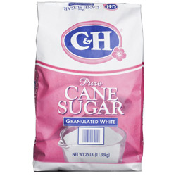 C&H® Pure Cane Granulated Sugar - 25 lb. Bag