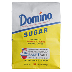 Domino® Pure Cane Granulated Sugar - 10 lb. Bale