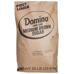 Domino® Pure Cane Medium Brown Sugar - 50 lb. Bag