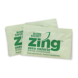 Zing™ Zero Calorie Stevia Sweetener - Single Serve 1 gram Packets, 1,000 Count