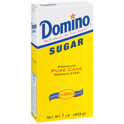 Domino® Pure Cane Granulated Sugar - 1 lb. Carton