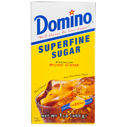 Domino® Pure Cane Superfine Sugar - 1 lb. Carton