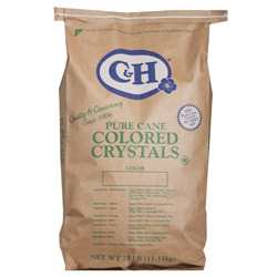 C&H® Pure Cane Rainbow Colored Crystals - 25 lb. Bag