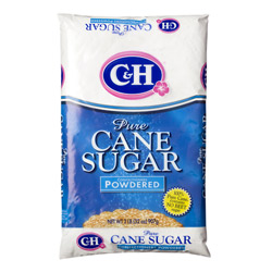 C&H® Pure Cane Powdered 10X - 2 lb. Poly