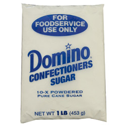 Domino® Pure Cane Powdered 10X - 1 lb. Poly
