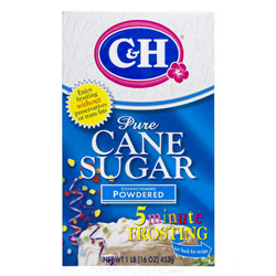 C&H® Pure Cane Powdered 10X - 1 lb. Carton