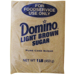 Domino® Pure Cane Light Brown Sugar - 1 lb. Poly