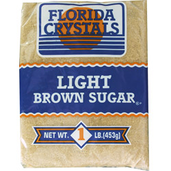 Florida Crystals® Pure Cane Light Brown Sugar - 1 lb. Poly
