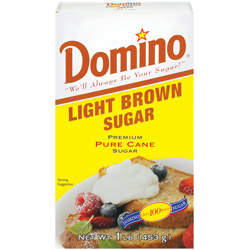 Domino® Pure Cane Light Brown Sugar - 1 lb. Carton