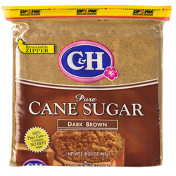 C&H® Dark Brown Sugar - 2 lb. Poly