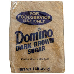 Domino® Pure Cane Dark Brown Sugar - 1 lb. Poly