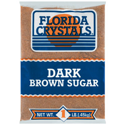 Florida Crystals® Pure Cane Dark Brown Sugar - 1 lb. Poly