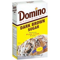 Domino® Pure Cane Dark Brown Sugar - 1 lb. Carton