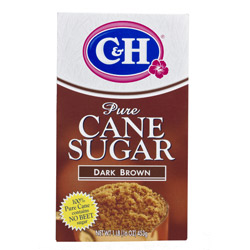 C&H® Pure Cane Dark Brown Sugar - 1 lb. Carton