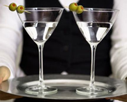 Martini using Organic Agave Nectar