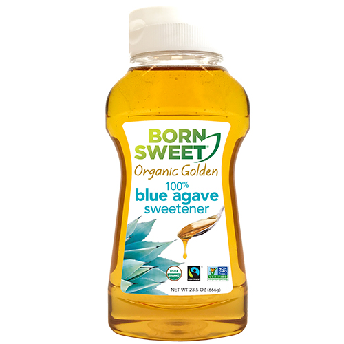 23.5 oz Born Sweet Organic Golden 100% Blue Agave Sweetener