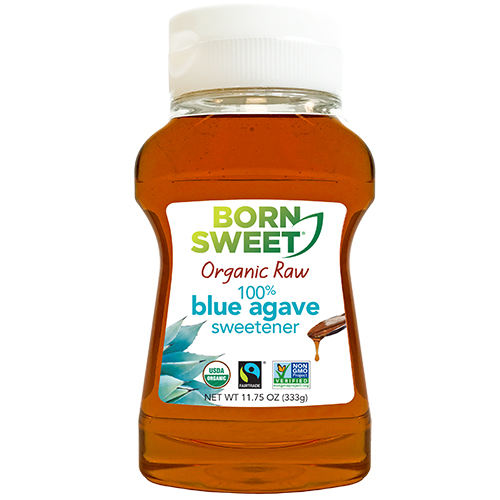11.75 oz Born Sweet Organic Raw 100% Blue Agave Sweetener