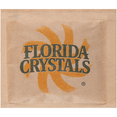 Florida Crystals® Turbinado Cane Sugar - Single Serve .16 oz. Packets, 1,000 Count