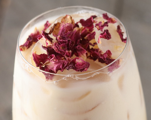 Chilled Rose Chai Latte