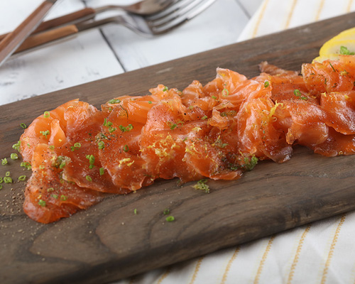 Dill and Citrus Cured Salmon