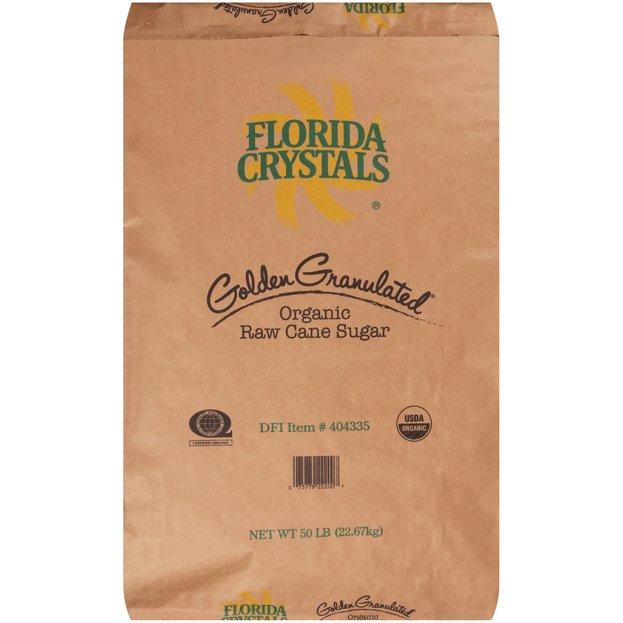 Florida Crystals® Organic Raw Cane Sugar - 50 Lb. Bag