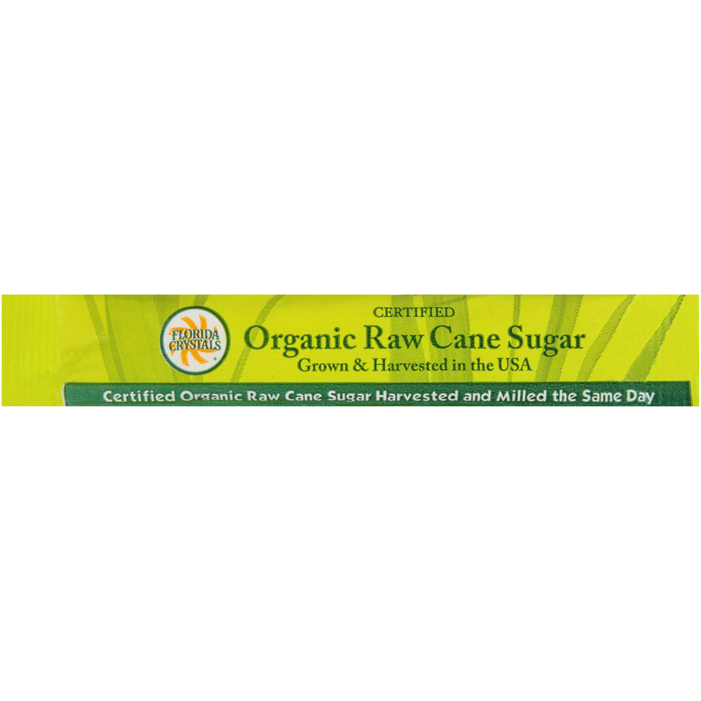 Florida Crystals® Organic Raw Cane Sugar Sticks - 1/10 Oz, 1000 Count
